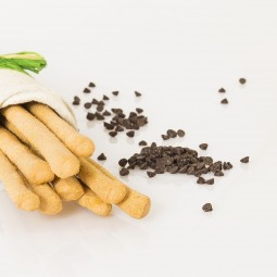 Grissini con gocce di cioccolato fondente