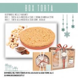 box torta di Nocciola Piemonte IGP germoglio dei sapori e crema di gianduia